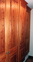Long Leaf Antique Heart Pine Doors and Built-ins