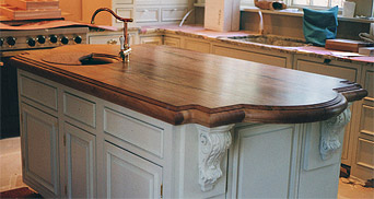 Quartersawn Sycamore Island Top with French Edge