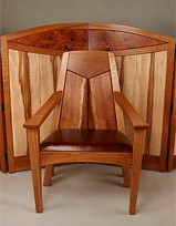St. Joseph's Medical Center Chapel - Presider's Chair with Screen