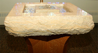 St. Thomas More Catholic Church - Baptismal with Living Water