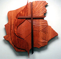 United Methodist Church - Wall Sculpture: Flame and Cross