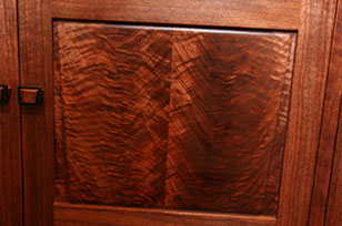 Curly Black Walnut Sideboard - Detail Close-up