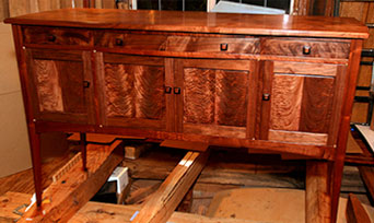 Curly Black Walnut Sideboard - Overview