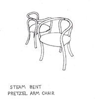 Pretzel Chair - Drawing